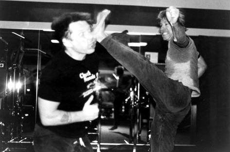 Duke Tirschel and Chuck Norris Stunt