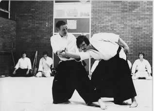 Henry Ellis Sensei and David Warne Sensei demonstrate shiho-nage