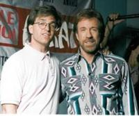 Stephen Oliver and Chuck Norris