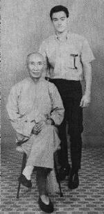 Yip Man and Bruce Lee