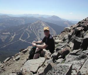 Dane Harden Climbing Rockies