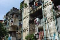 Slum building in Phnom Penh