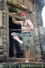 Antonio Graceffo with Krabi Krabong short sticks