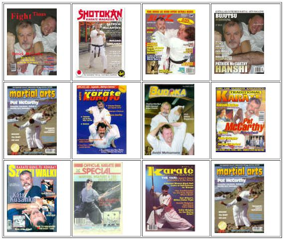 Patrick McCarthy Karate Magazine Covers