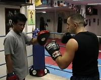 Muay Thai Chakrit Training on Focus Pad