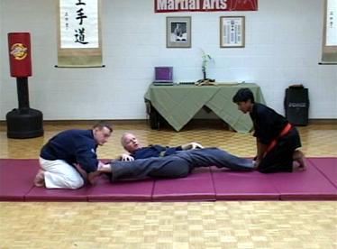 Dane Harden demonstrating of range of motion