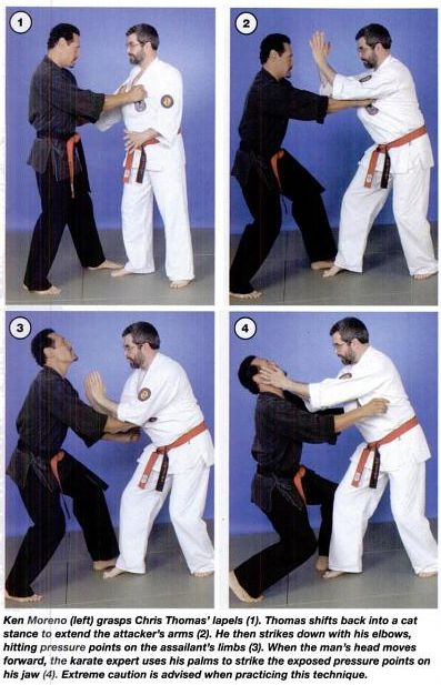 Pressure Point technique Lapel Grab