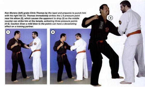 Pressure Point technique Lapel Grab