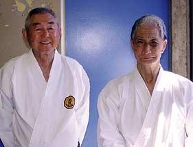 Sensei Richard Kim and Hidetaka Nishiyama