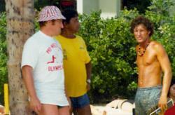 Terry Wilson and Gene LeBell in Hawaii