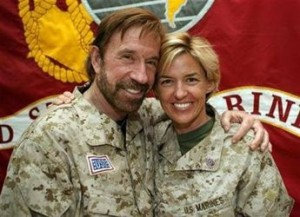 Chuck Norris with Troops