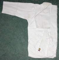 Folding the Gi: jacket 2 folded one arm down