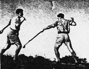Walking Stick vs. Nabut, Mid 1940's