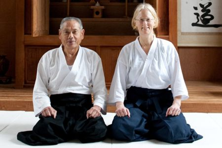 Motomichi Anno Sensei and Linda Holiday from Journey to the Heart of Aikido