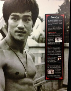 A Bruce Lee display at The Martial Arts Museum