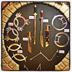 A display of Kung Fu weapons at the museum (photo by Nikki Kreuzer)
