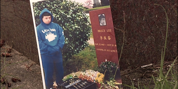 Dustin Bean at Bruce Lee's Grave