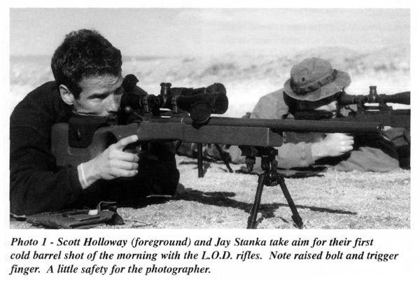 Scott Hallowway (foreground) and Jay Stanka take aim